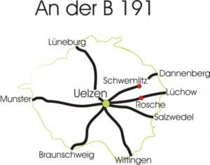 Karte vom landkreis Uelzen